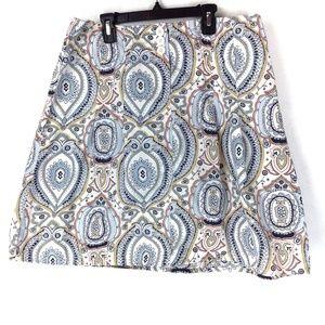 Colorful Loft A-line skirt